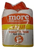 #1: More Value Toilet Tissue Rolls - 2 Ply, 4 Pieces Pack