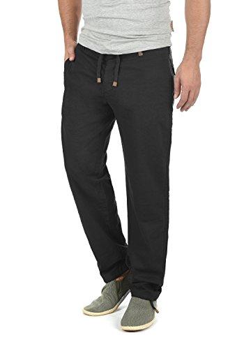 INDICODE Ives Leinenhose , Größe:XL;Farbe:Black (999) (Leinen Hose)
