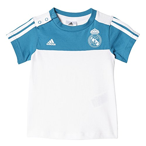 Adidas Lot de 3 bandes été Real Madrid Survêtement Enfant, Enfant, Real Madrid 3-Streifen Sommer-Set, Vivtea/White