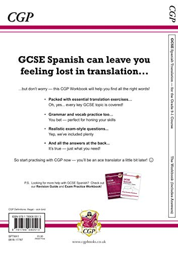 New Grade 9-1 GCSE Spanish Translation Skills Workbook (includes Answers)