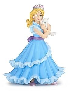 Papo 39125 - Figura de Princesa con Gato, Color Azul