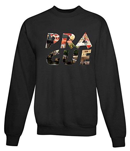 Billion Group | Prague | City Collection | Women's Unisex Sweatshirt Noir