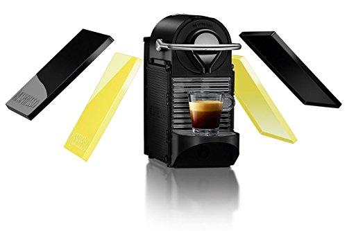 Krups Nespresso Pixie Clips XN3020 Kaffeekapselmaschine (0,7 Liter) schwarz und electric lemon