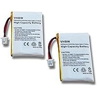 vhbw 2x Batterie Li-Polymer 300mAh (3.7V) per Cuffie Headset Plantronics