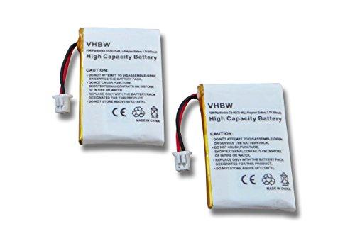 vhbw 2X Li-Polymer Akku 300mAh (3.7V) für Kopfhörer Headset Plantronics Wireless Headset Lifter HL10 wie 64327-01, 653580 u.a. -