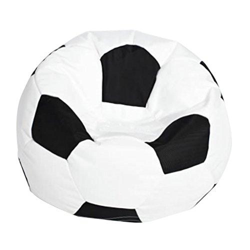 Fenteer Fußball Gedruckt Sofa Sitzsackbezg Sitzsack Sessel Bezug für Wohnzimmer - Weiß