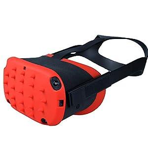 Esimen Touch Controller Grip Cover für Oculus Quest/Rift S Handgelenkschlaufe Anti-Wurfgriff Schutzhülle Anzug, Blauer Einband