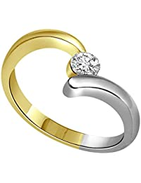 SURATDIAMOND 18k (750) Yellow Gold And Diamond Solitaire Ring