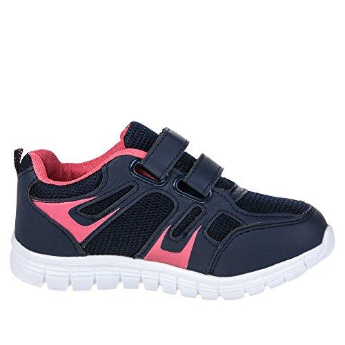 Kinder Schuhe, AB-132, UNISEX FREIZEITSCHUHE Blau Pink