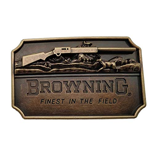 Hebilla de cinturón Browning 3d Finest in the Field Rifle Brass Color Belt Buckle
