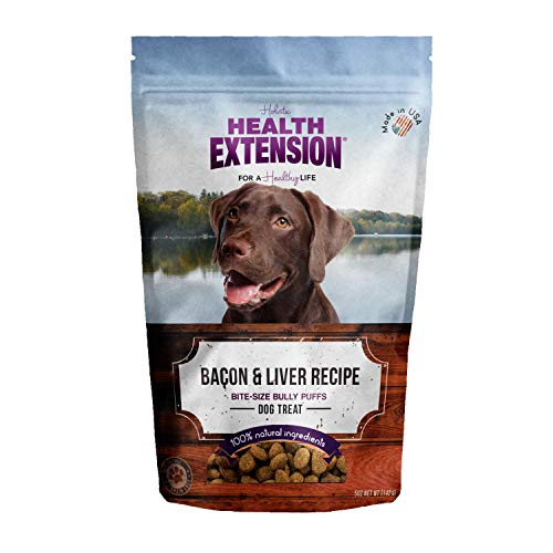Health Extension Bully Puffs Dog Treat, Bacon and Liver by Health Extension Bully Puffs