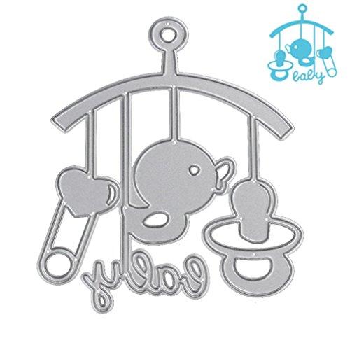 Stanzschablone Scrapbooking, FNKDOR Schablonen Embossing Machine Schneiden Stanzformen, für Sizzix Big Shot und andere Stanzmaschine (K) Ovale Torte