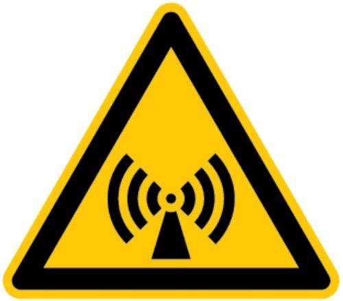 Spannung Feld (H.Klar Aufkleber Warnung vor elektromagnetischen Feldern ähnlich ISO 7010 ISO-W005 SL 100mm)
