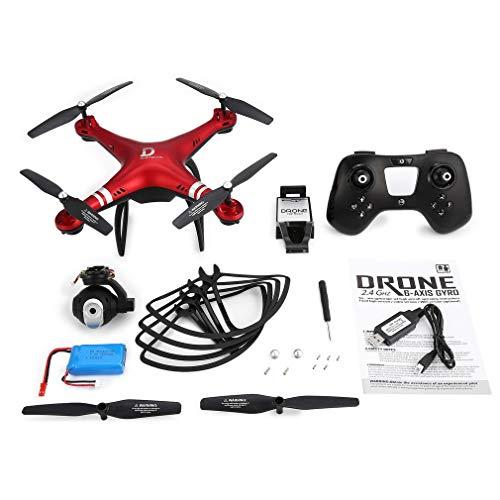 GreatWall X8 RC Drone 720P Fotocamera Regolabile FPV RC Drone 18 Minuti Altezza aeroporto Tenere Il Rosso