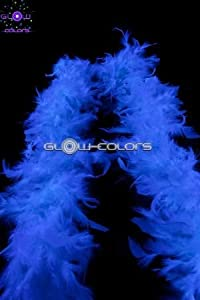 UV Floor - Boa de plumas (3700817008295), color blanco fluorescente