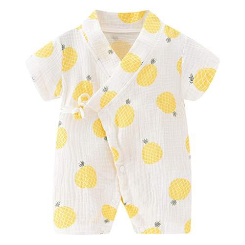 henke 10 Jahre Neugeborene Baby Boy Girl Garn Robe Floral Kimono Strampler Overall Kleidung(Gelb,90) ()