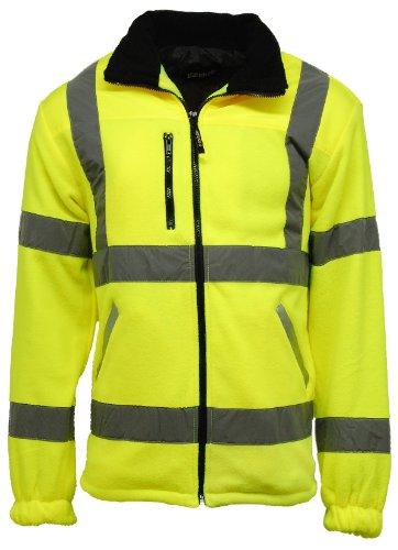 Veste de sécurité en polaire pour homme Haute visibilité Doublée - - XX-Large