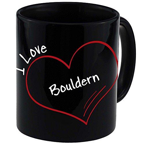 Tasse Modern I Love Bouldern schwarz -