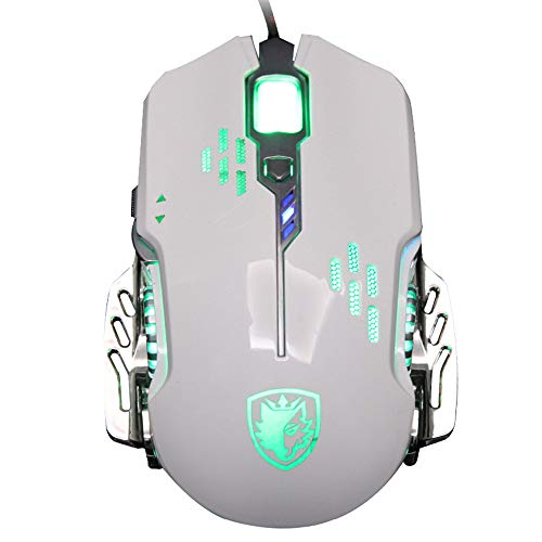 DingLong Professionelle Maus, Importieren Sades 2400 DPI verdrahtete optische LED 6 Buttons Gaming Mouse für Profi-Gamer