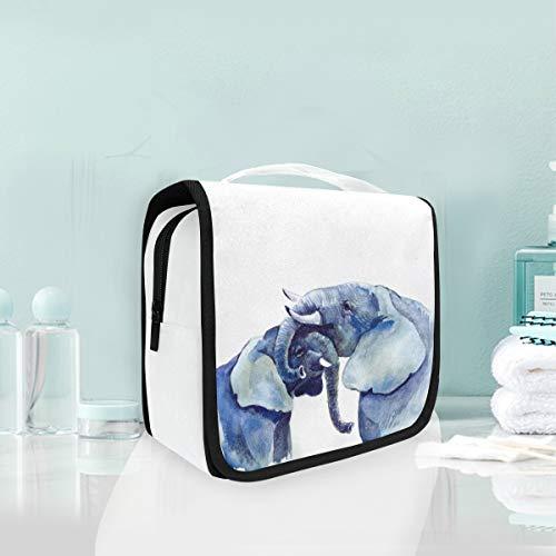 Bolsa de cosméticos de maquillaje portátil de artículos de tocador Colgando Elefantes...