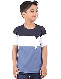 BodyGlove Boy's Cotton Round Neck Half Sleeve Solid T-Shirt