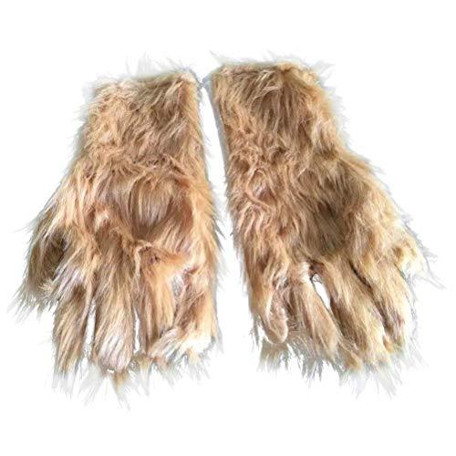 (BESTOYARD Halloween Party Requisiten Lustige Eco-Freund Latex Plüsch Affe Pfote Handschuhe Bar Requisiten 1 Paar)