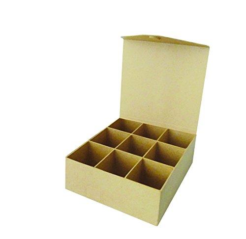 Decopatch - Caja con 9 Compartimentos (Cierre magnético, 21 x 20 x 7,5 cm)