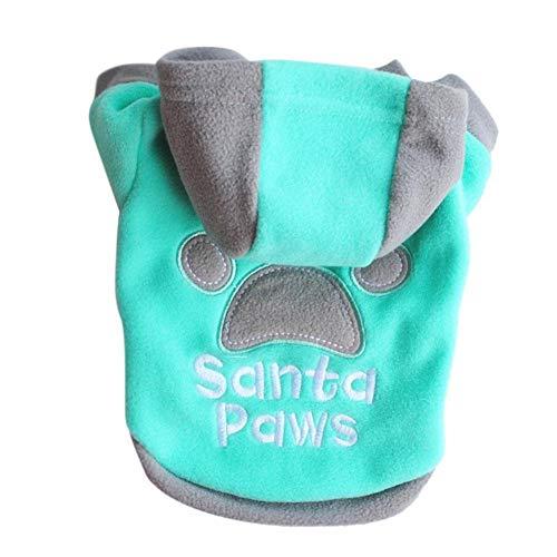 Comaie Hunde-Sweatshirts mit Kapuze, Kaschmirpullover, für Welpen, Samt, warme Kleidung, modisch, bequem, Winterkleidung, Schlafanzug, 4 Füße