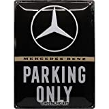 Nostalgic-Art 23262 - Mercedes-Benz - Parking Only, Retro Blechschild, Vintage-Schild, Wand-Dekoration, Metall, 30x40 cm