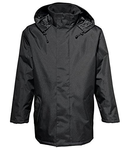 2786 Mens Water & Wind Resitant Quilt Padded Parka Parcker Jacket Black