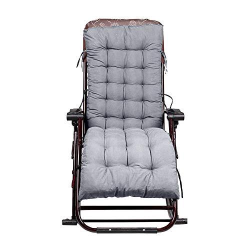 chaiselongue kissen matratze pad gepolsterte dicke weiche bequeme schaukelstuhl sitzmatte einfarbig - grau (Chaiselongue Gepolsterten Bequem)