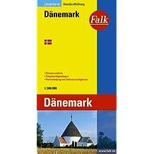 Falkplan Dänemark 1 : 300 000.  Länderkarte.
