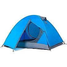 Tienda Exterior para 2 Personas Camping Doble Engrosamiento Anti-tormenta Lluvia UV Hogar (Color