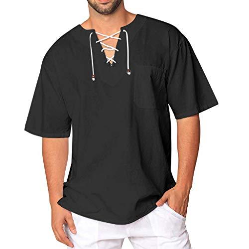 Herren T-Shirt, atmungsaktives Sportshirt, kurzärmliges und schnelltrocknendes Trainingsshirt Blouse M-XXXL