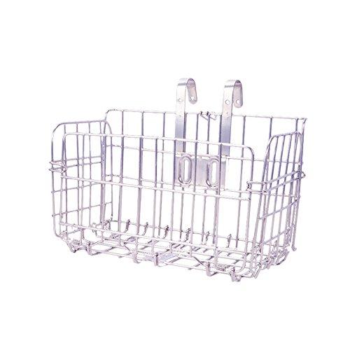 AKAUFENG Rost Wasserdichte Klappbare Fahrradkorb Kapazität 44lbs für verschiedene Klappfahrrad und Mountainbike (Silber)