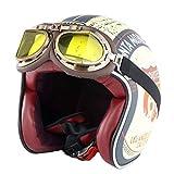 Casque de Moto Harley Adulte rétro Anti Collision Maille Coton Doublure Casques de...