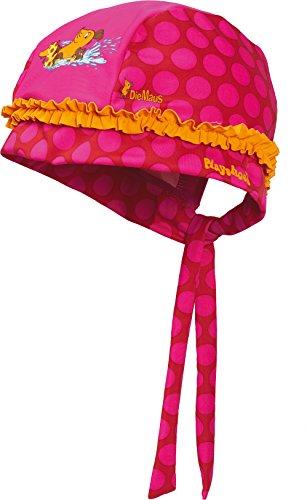 Playshoes Baby - Mädchen Mütze Kopftuch, Bademütze DIE MAUS Punkte mit UV - Schutz, Gr. Medium (Herstellergröße: 53cm), Rosa (original 900)