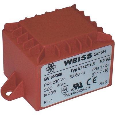 Weiss Elektrotechnik PRINTTRAFO 5,0VA 230V / 12V / 417MA