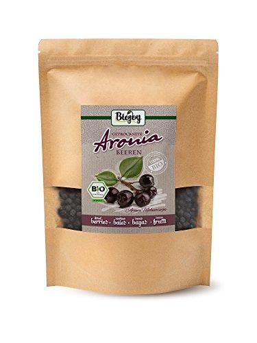 Biojoy Bacche di Aronia BIO 100% frutti di aronia bio interi | aronia essiccata BIO senza aromi aggiunti né conservanti | da produzione bio controllata | Aronia melanocarpa (1 kg)