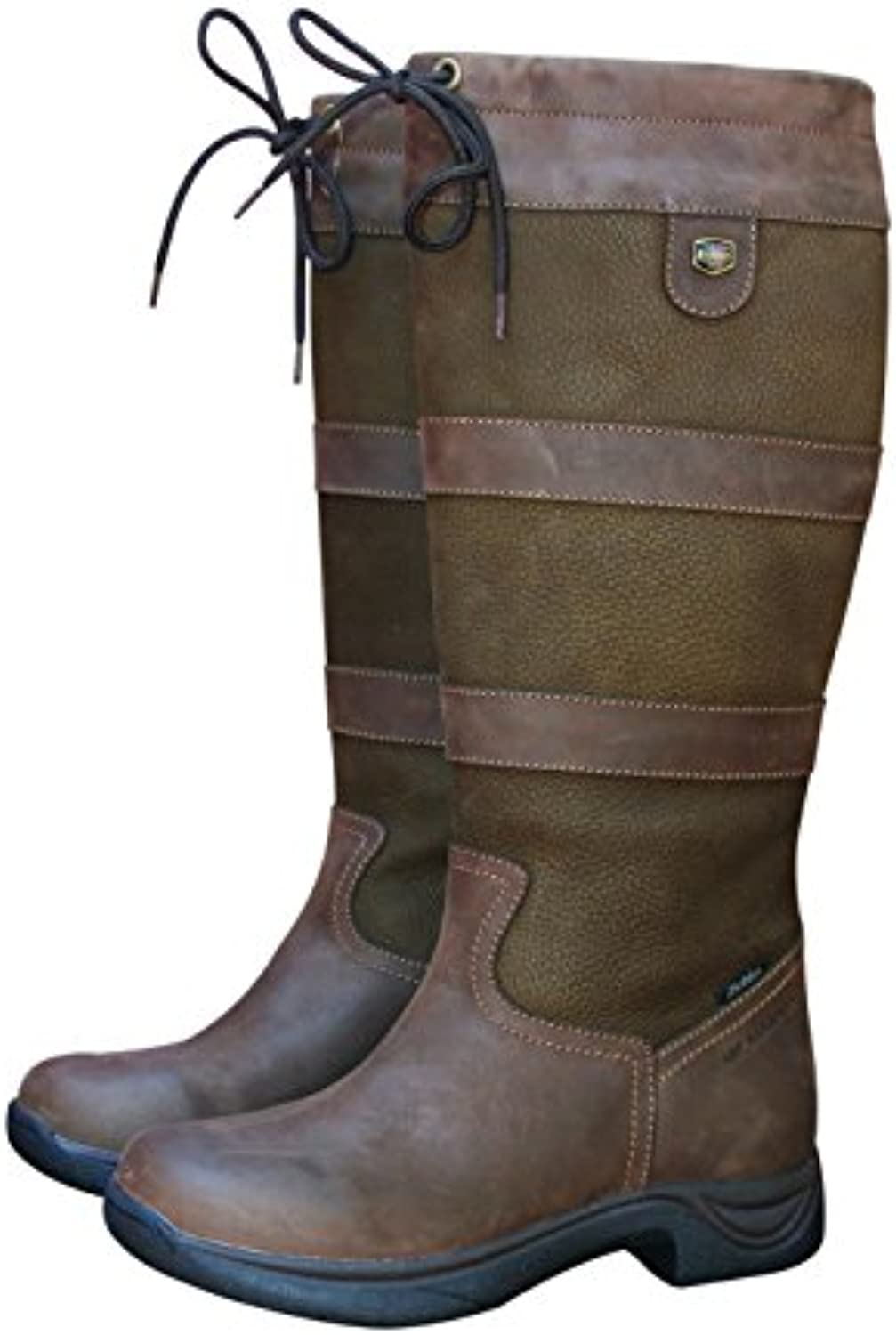 Dublin, botas para hombre marrón chocolate, Marrón chocolate, UK 6 / EU 39 -Wide
