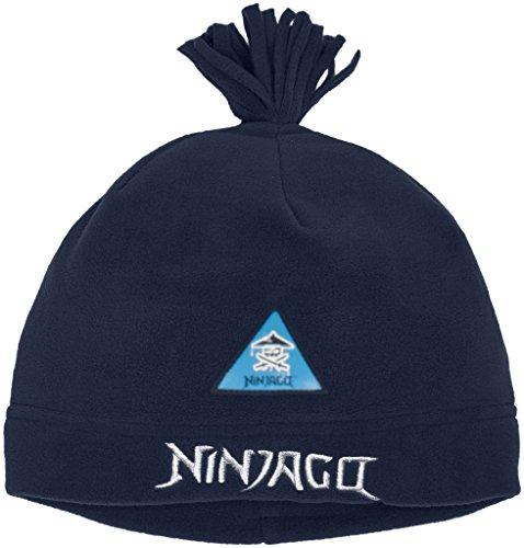 LEGO Wear Jungen LEGO Boy Ninjago ACE 708 Fleecemütze Mütze, Blau (Dark Navy 589), 50 (Herstellergröße: 52)