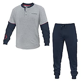sergio tacchini ensemble de pyjama homme grigio chiaro melange v tements et. Black Bedroom Furniture Sets. Home Design Ideas
