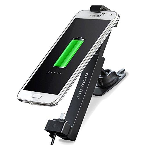 Sinjimoru KFZ Handyhalterung, Smartphone Halterung mit USB Ladegerät/Handyhalterung Auto inkl. Micro USB Kabel für Android Smartphones, Handy Autohalterung. Sinji Car Kit, Android Power Paket.