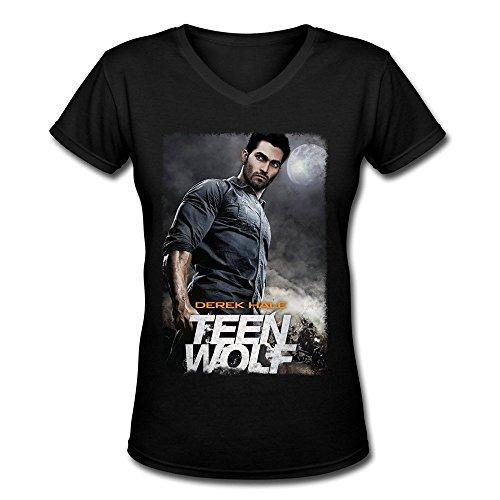 (Damen's Teen Wolf V-Neck T-shirtS XX-Large)
