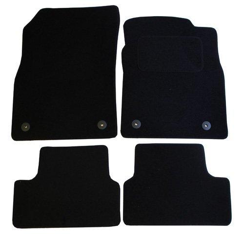 Preisvergleich Produktbild Voll Tailored Auto Badematten-Set mit 4Clips–4Stück, schwarz