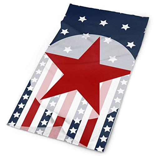 Hoklcvd Patriotic Stars Stripes American Flag Men Women Face Mask Neck Gaiter Sun Shade Shield Bandanas Headwear Wide Headbands Scarf Head Wrap Unisex5
