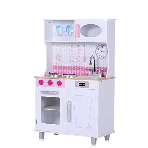 Baby Vivo Cucina Giocattolo per Bambini Gioco Legno Giocare Educazione Fornello Divertimento Romy Blanc