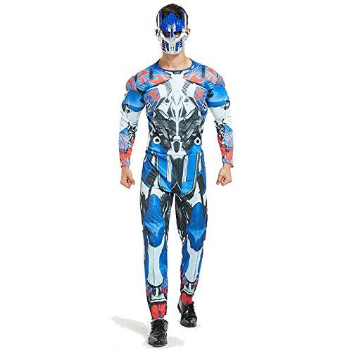 Avengers Kostüm Erwachsene Superhelden Kostüme Herren,Hulk,Captain America,Iron Man,Spiderman Kostüm,Halloween Cosplay Overall Kostüm,OptimusPrime-OneSize (Kostüme Für Rächer Mädchen)