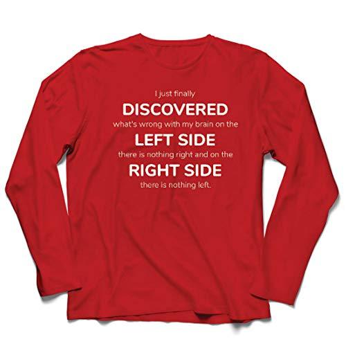 lepni.me Herren T Shirts Auf der linken Seite gibt es Nichts mehr, auf der rechten Seite Nichts mehr. (Large Rot Mehrfarben)
