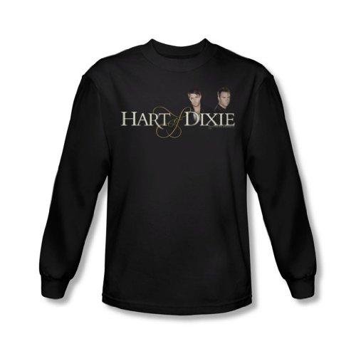 Hart Of Dixie-Maglietta a maniche lunghe da uomo con Logo, colore: nero